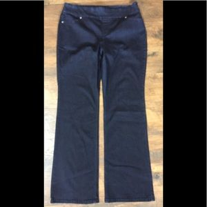 Chico's Stretch Pull On Boot Cut Jeans~sz 2-12/14